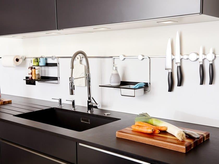 Sistema portautensili da cucina in alluminio anodizzato fixMI® - BUBBLE by Mat Inter