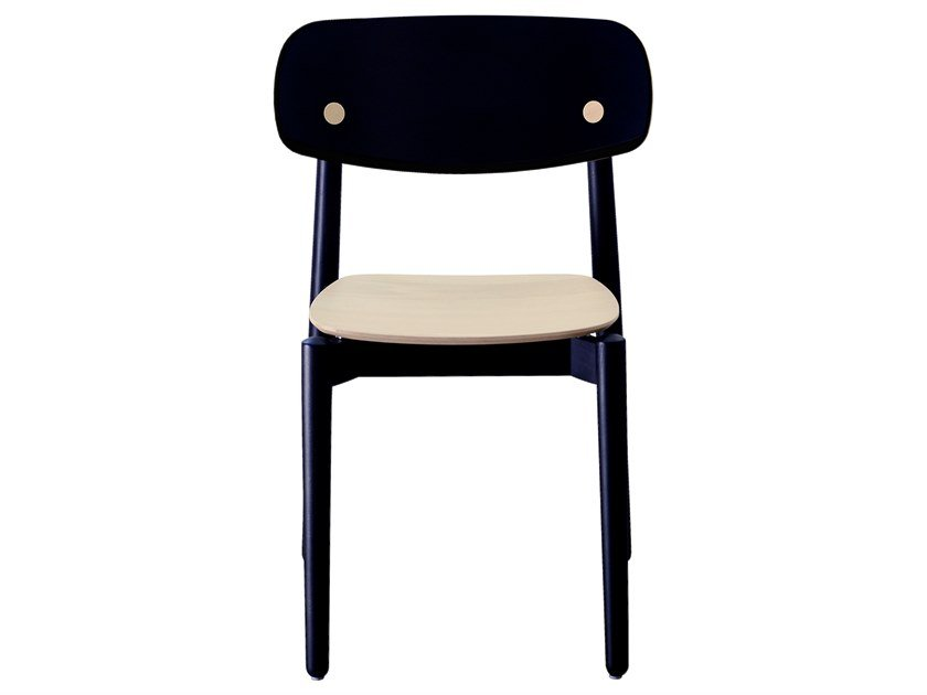 Open back beech dual color chair FIZZ | Beech chair by Bedont