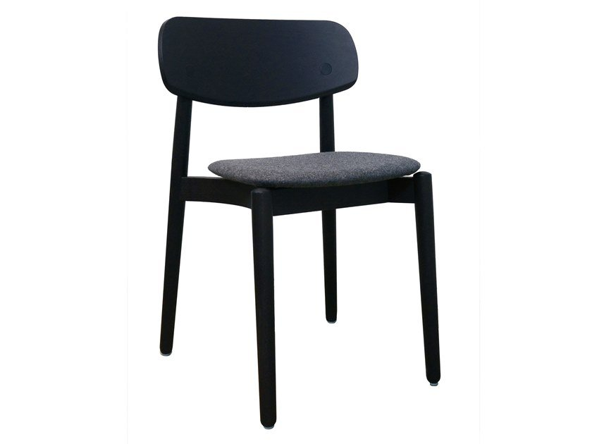 Wooden chair with integrated cushion FIZZ | Chair with integrated cushion by Bedont