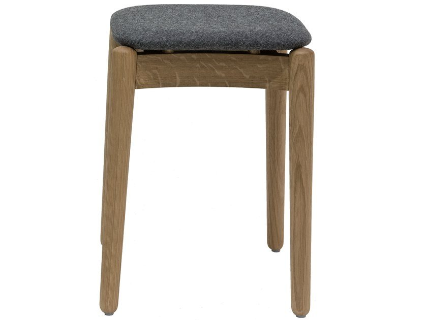Low wooden stool with integrated cushion FIZZ | Stool with integrated cushion by Bedont
