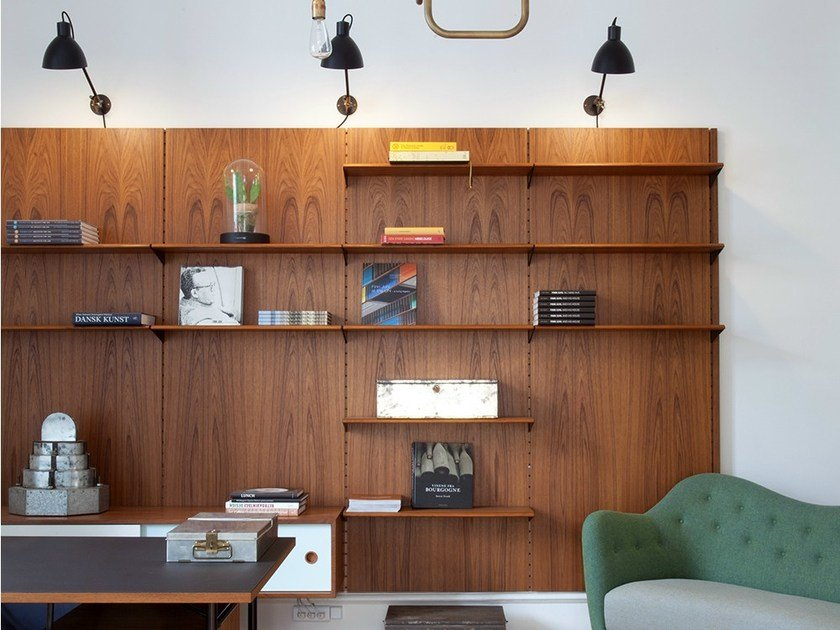 Sectional wooden storage wall FJ | Storage wall by Onecollection