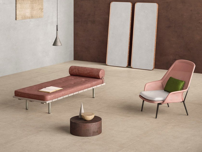 Porcelain stoneware wall/floor tiles with stone effect FJORD BEIGE by GranitiFiandre