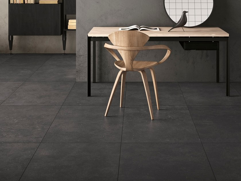 Porcelain stoneware wall/floor tiles with stone effect FJORD BLACK by GranitiFiandre