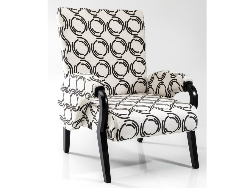 Fabric armchair with armrests FJORD COUNTY | Armchair with armrests by KARE-DESIGN