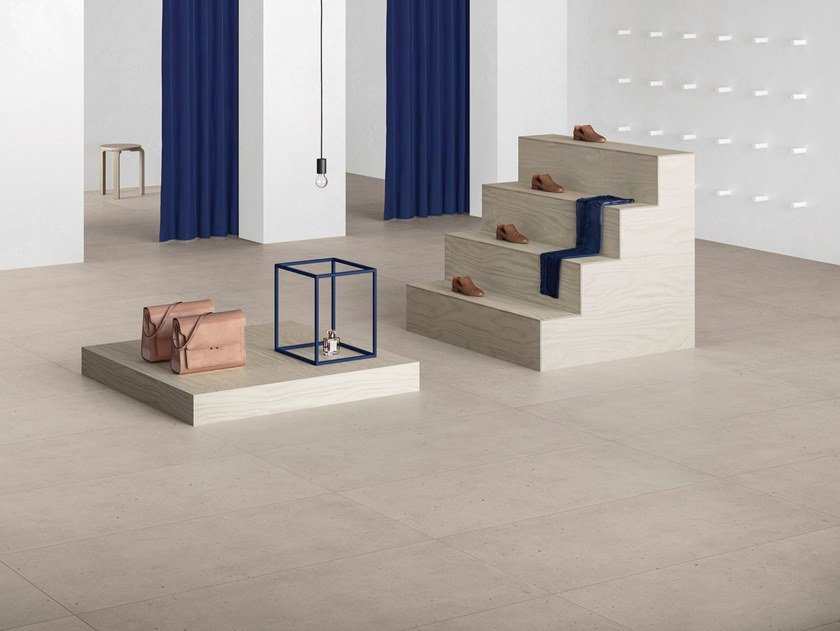 Porcelain stoneware wall/floor tiles with stone effect FJORD SAND by GranitiFiandre