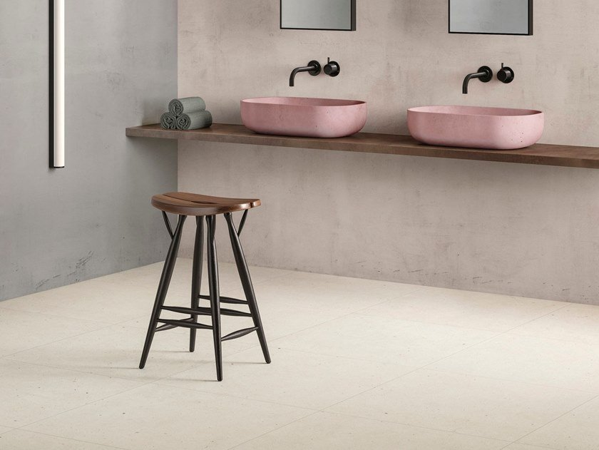 Porcelain stoneware wall/floor tiles with stone effect FJORD WHITE by GranitiFiandre