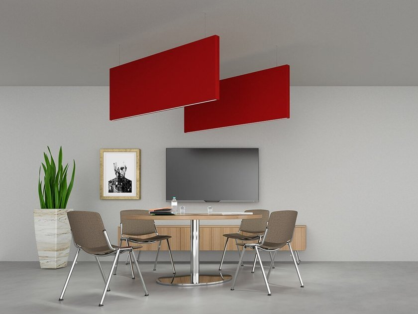 Sound-absorbing ceiling panel FLAG | Hanging acoustic panel by Caruso Acoustic