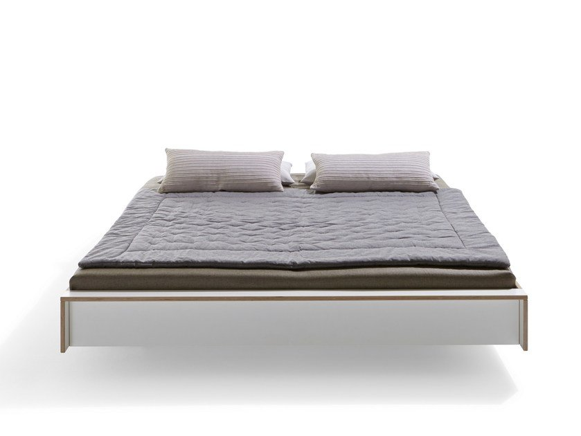 Multi-layer wood bed double bed FLAI   Bed double bed by Müller Möbelwerkstätten