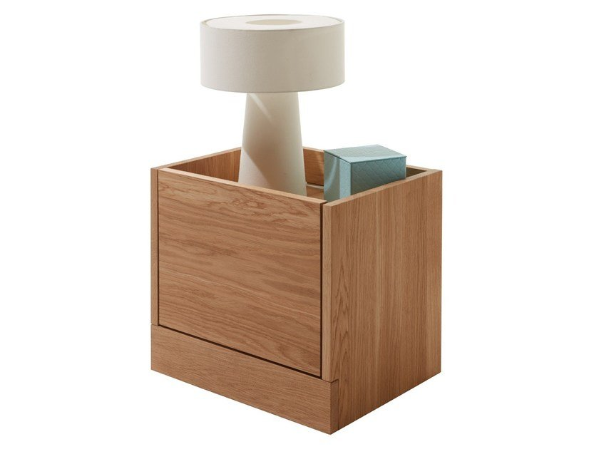 Rectangular oak bedside table FLAI | Oak bedside table by Müller Möbelwerkstätten