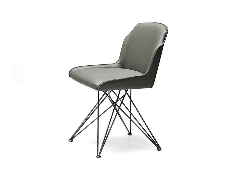 Swivel upholstered leather chair FLAMINA by Cattelan Italia