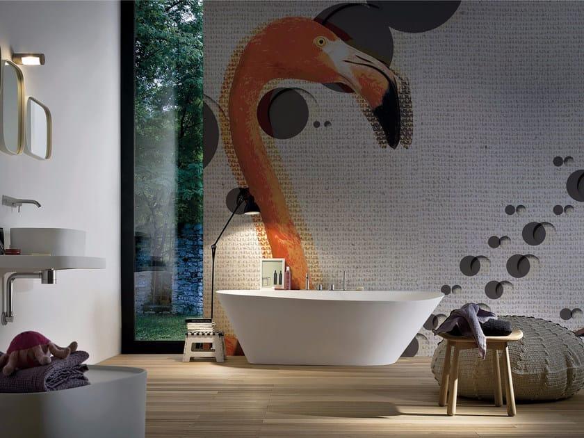 Panoramic wallpaper FLAMINGOS by Inkiostro Bianco