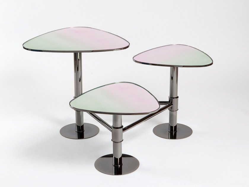 Side table FLANK | Glass coffee table by KONTRA