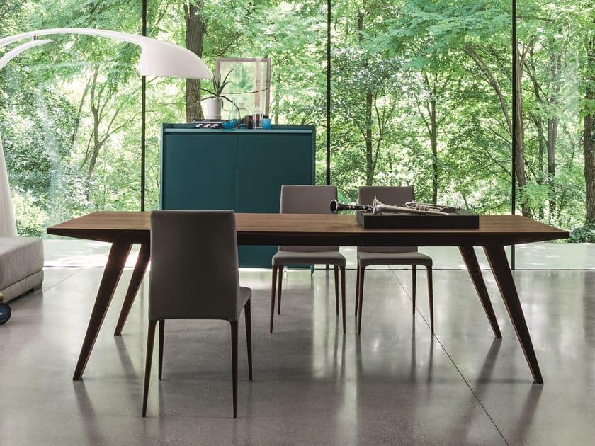 Extending rectangular oak table FLAP by Dall'Agnese