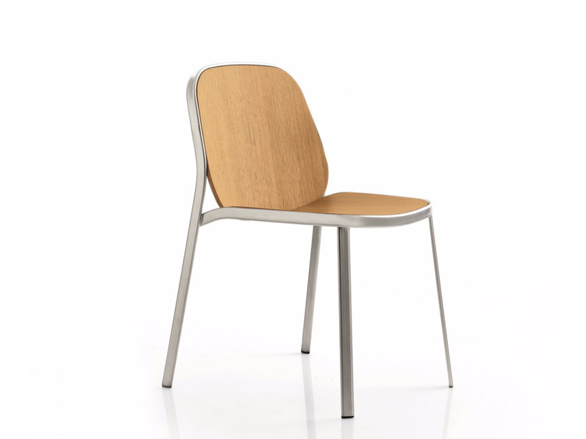 Wooden reception chair FLAP | Wooden chair by Emmegi