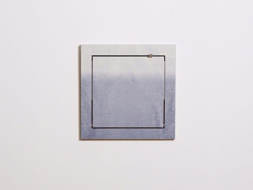 Folding plywood wall shelf FLÄPPS 40x40x1 - FADING GREY by AMBIVALENZ