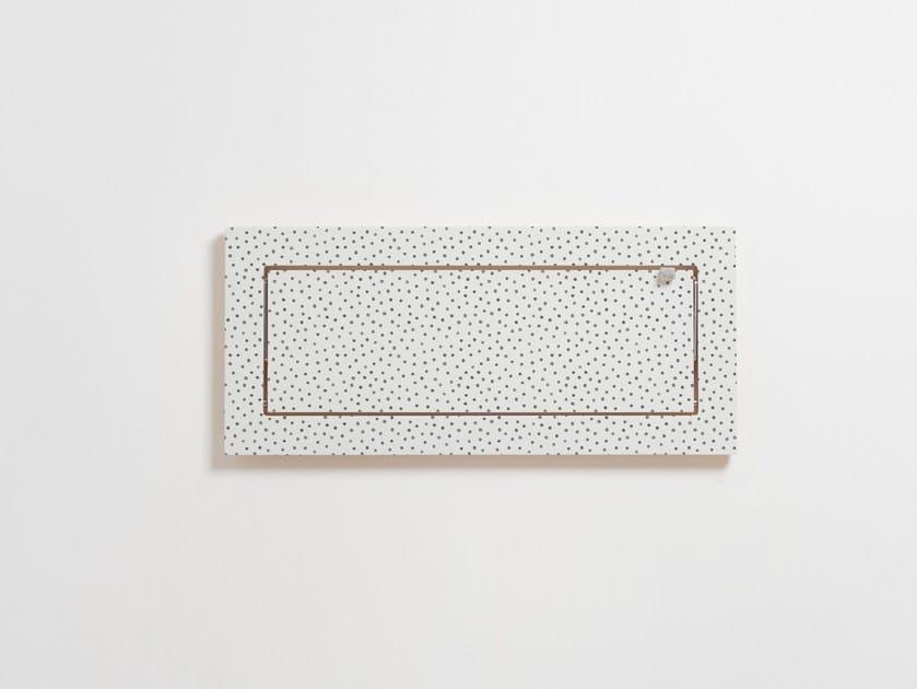Folding plywood wall shelf FLÄPPS 60x27x1 - WATERCOLOR DOTS by AMBIVALENZ