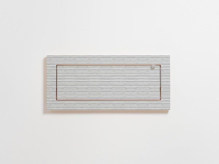 Mensola ribaltabile in compensato FLÄPPS 60x27x1 - WATERCOLOR STRIPES by AMBIVALENZ
