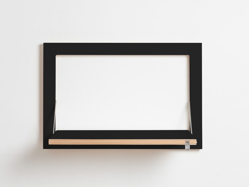 Mensola ribaltabile in compensato FLÄPPS 60x40x1 - BLACK by AMBIVALENZ