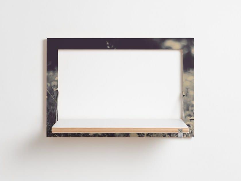 Folding plywood wall shelf FLÄPPS 60x40x1 - WILD AND FREE by AMBIVALENZ