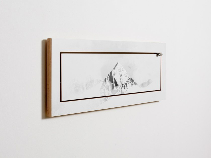 Contemporary style folding plywood wall shelf FLÄPPS 80x27x1 - VALLUNARAJU by AMBIVALENZ