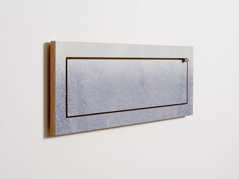 Mensola ribaltabile in compensato FLÄPPS 80x27x1 - FADING GREY by AMBIVALENZ