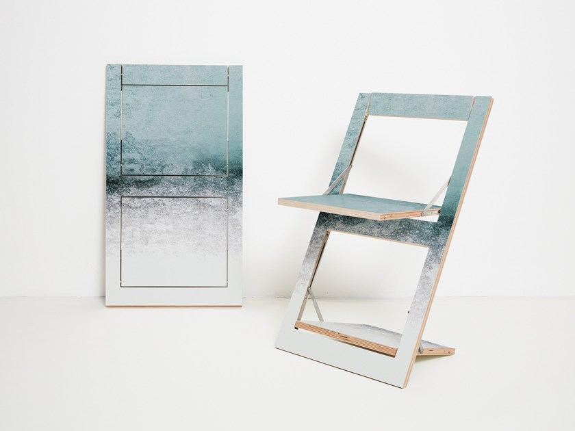 Sedia pieghevole in compensato FLÄPPS FOLDING CHAIR - SNOWDREAMER by AMBIVALENZ