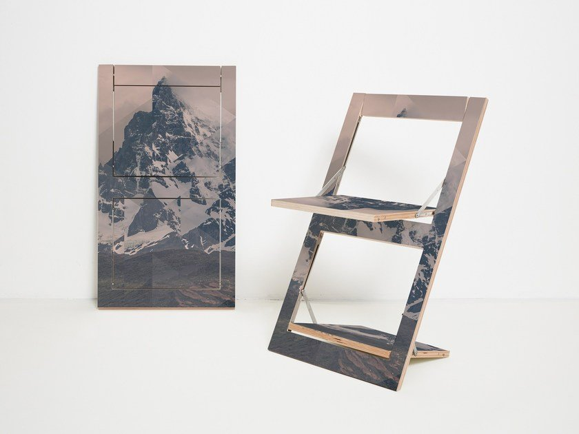 Folding open back plywood chair FLÄPPS FOLDING CHAIR - PUERTO NATALES by AMBIVALENZ