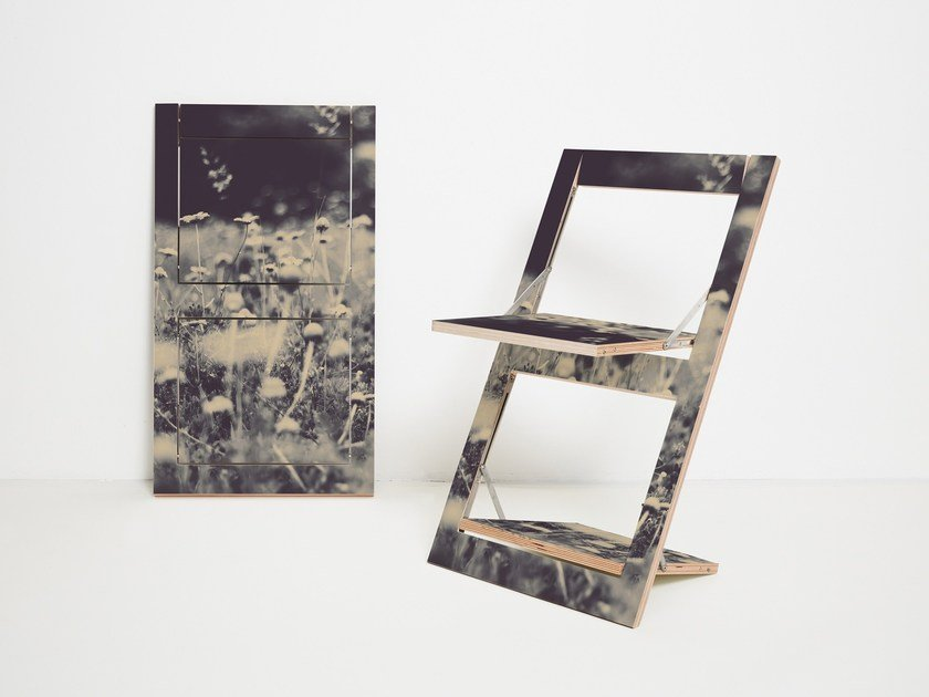Sedia pieghevole in compensato FLÄPPS FOLDING CHAIR - WILD AND FREE by AMBIVALENZ
