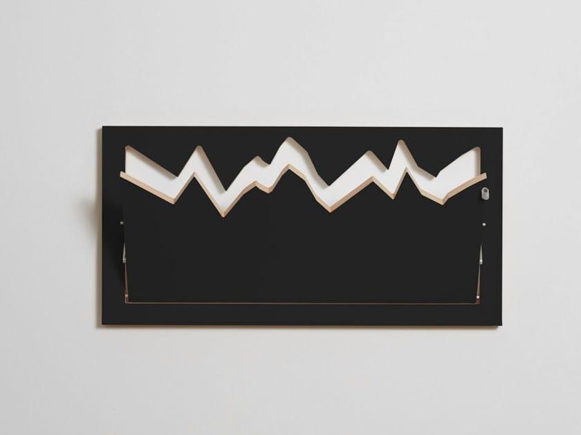 Appendiabiti da parete in compensato FLÄPPS HILLHÄNG - BLACK by AMBIVALENZ