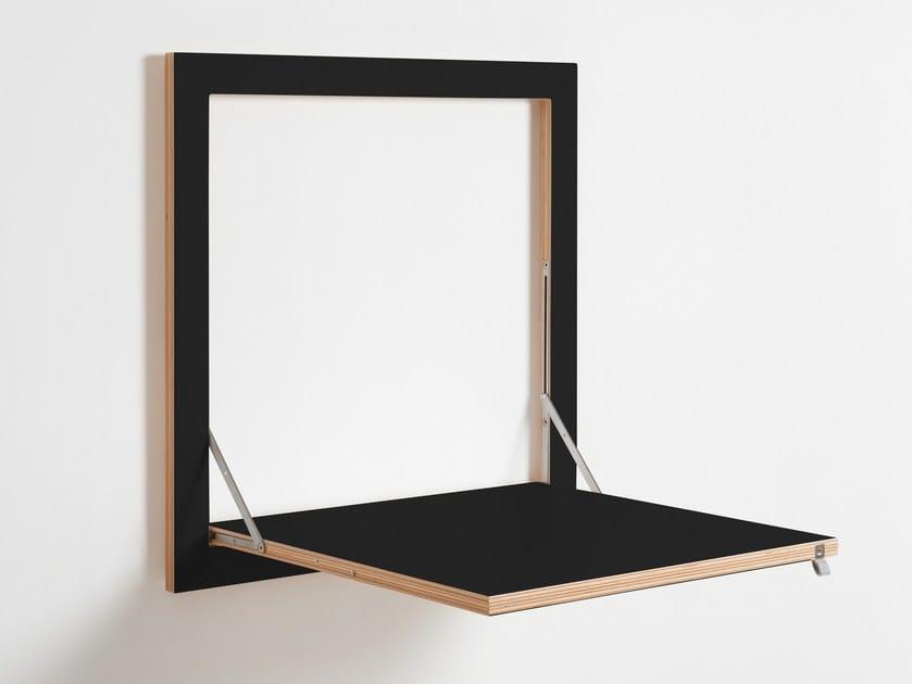 Tavolo a muro da cucina in compensato FLÄPPS KITCHEN TABLE - BLACK by AMBIVALENZ