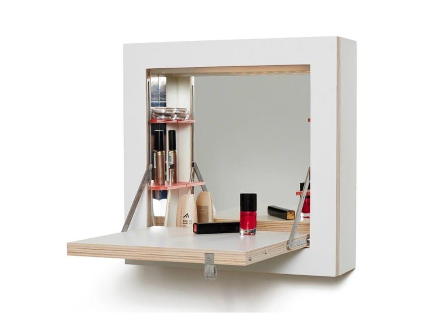 Plywood dressing table FLÄPPS SCHMINKTÄNK by AMBIVALENZ