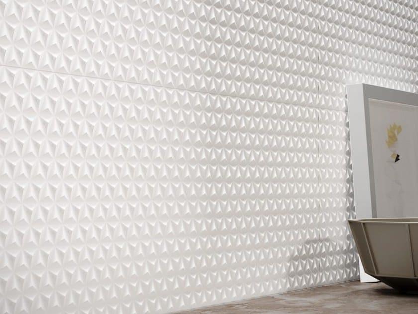 Glass ceramic 3D Wall Cladding FLASH by Revigrés