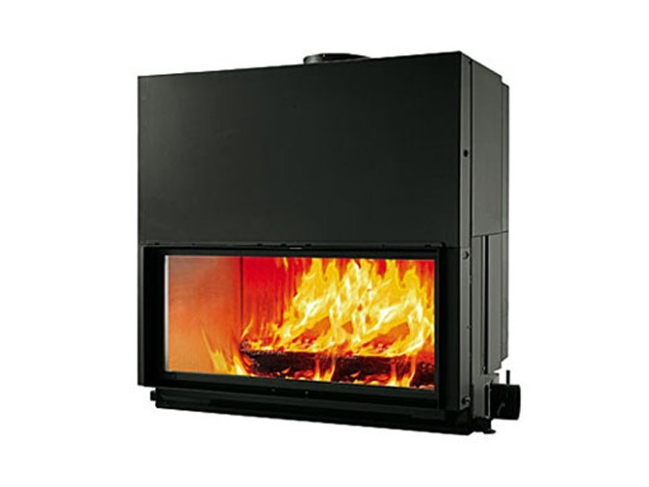 Wood-burning built-in fireplace FLAT 120 by EDILKAMIN