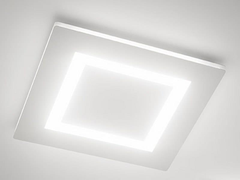 Plafoniere A Led Da Soffitto : Plafoniera a led luce diretta flat lampada da soffitto panzeri