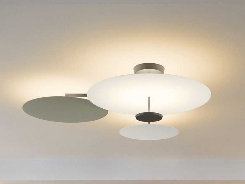 LED metal ceiling lamp FLAT 5922 | Ceiling lamp by Vibia