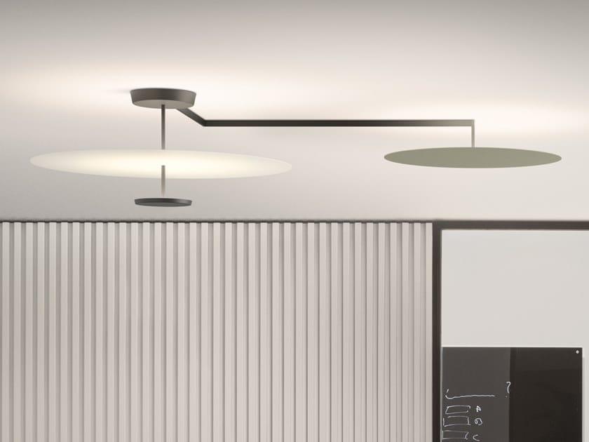 Lampada da soffitto a LED in metallo FLAT 5924 | Lampada da soffitto by Vibia