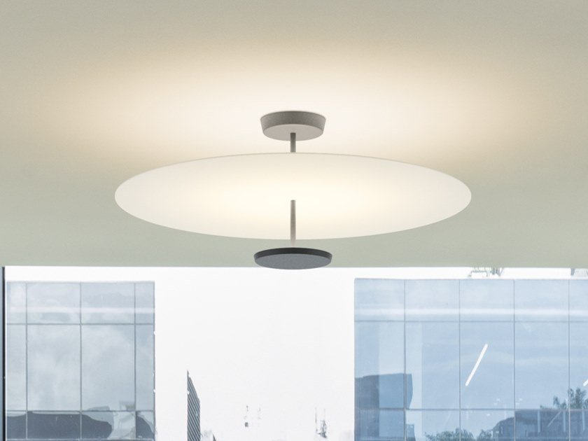 LED metal ceiling lamp FLAT 5926   Ceiling lamp by Vibia