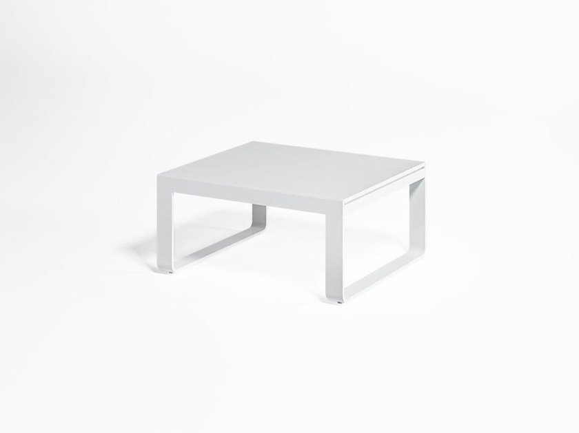 Rectangular thermo lacquered aluminium garden side table FLAT | Coffee table by GANDIA BLASCO