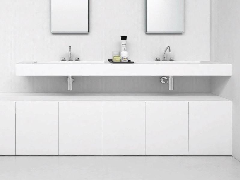 Lavabo doppio in Corian® con piano FLAT | Lavabo doppio - MAKRO
