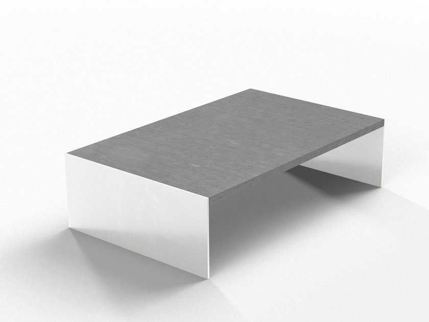Low cement coffee table FLAT by Forma&Cemento