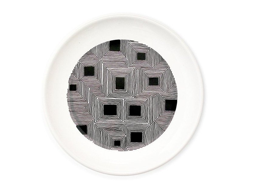 Ceramic dinner plate FLAT by Kiasmo