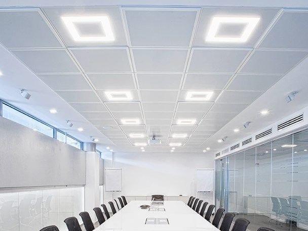 Plafoniere Con Luce Emergenza : Flat lampada da soffitto a led collezione by panzeri