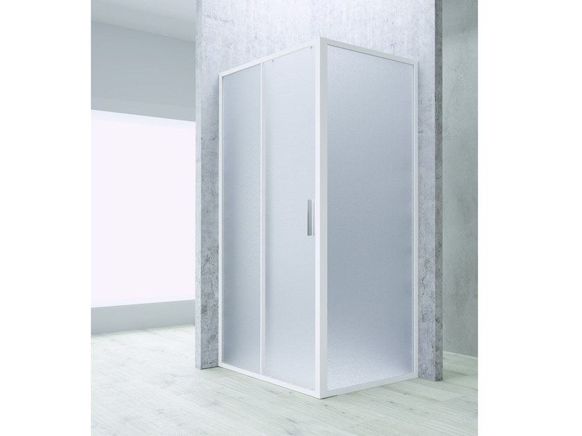 Corner shower cabin with sliding door FLAT SC1+F by RELAX