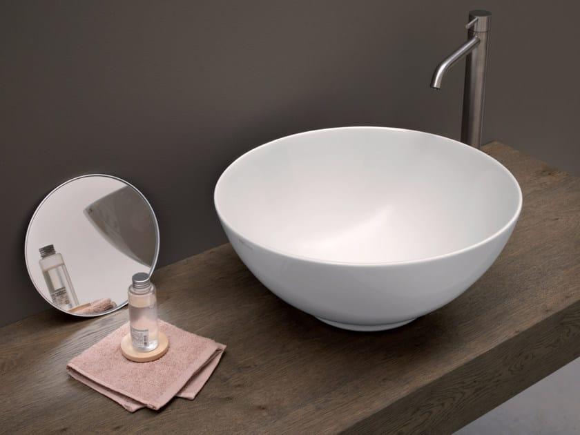 Countertop round ceramic washbasin FLAVIA by Nic Design