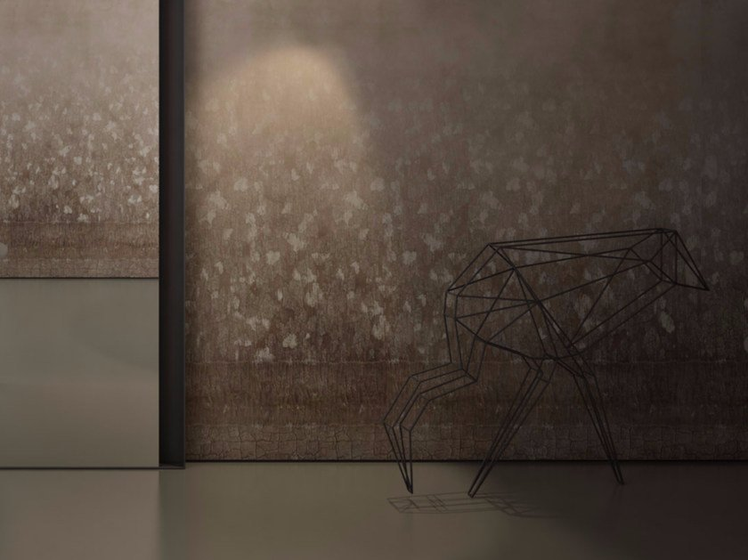 Wood effect vinyl wallpaper FLEA by GLAMORA