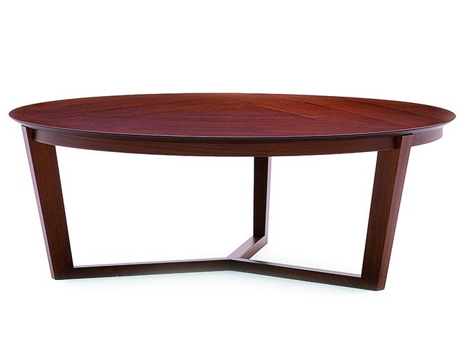 Low round coffee table FLEN 906L by Montbel