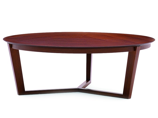 Low round coffee table FLEN 906TS by Montbel