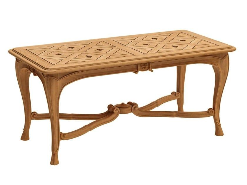Rectangular teak coffee table FLEUR DE LYS | Rectangular coffee table by ASTELLO