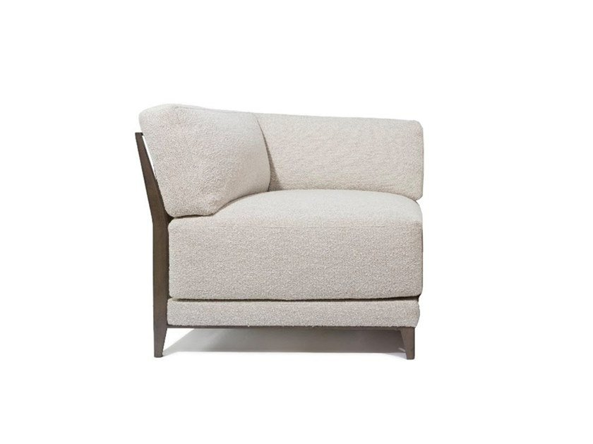 Corner fabric armchair FLEURUS | Armchair by HUGUES CHEVALIER