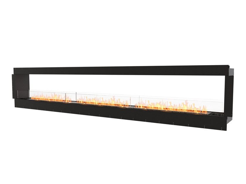 Bioethanol Double-sided steel Fireplace insert with Panoramic Glass FLEX 158DB by EcoSmart Fire